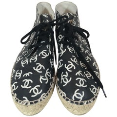 Chanel High-Top Espadrille Sneakers