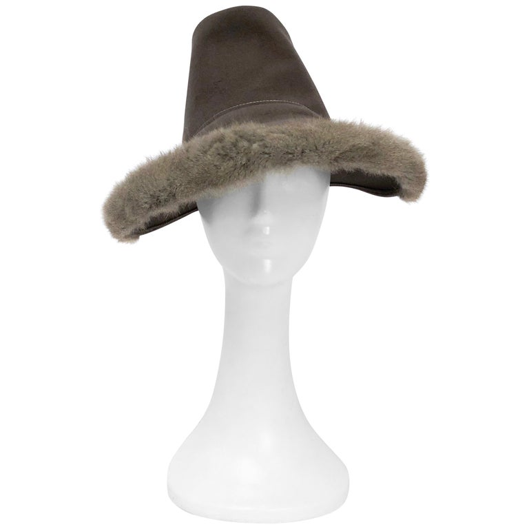 ceacbecc71e 1930s Grey Fur Felt Hat with Matching Fur Trim For Sale at 1stdibs