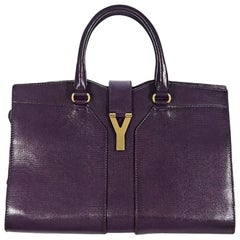 Purple Yves Saint Laurent Cabas Chyc Tote Bag