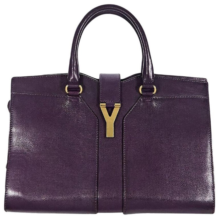 Yves Saint Laurent Purple Cabas Chyc Tote Bag