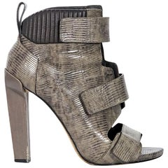 Grey Alexander Wang Embossed Leather Ankle Boots