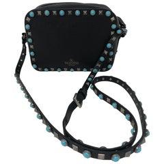 Valentino Rockstud Turquoise Stone Crossbody Bag