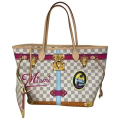 Louis Vuitton Miami Special Trunks Neverfull MM Damier Azur Bag