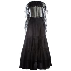 Margiela black maxi dress made from vintage petticoats, S / S 2003