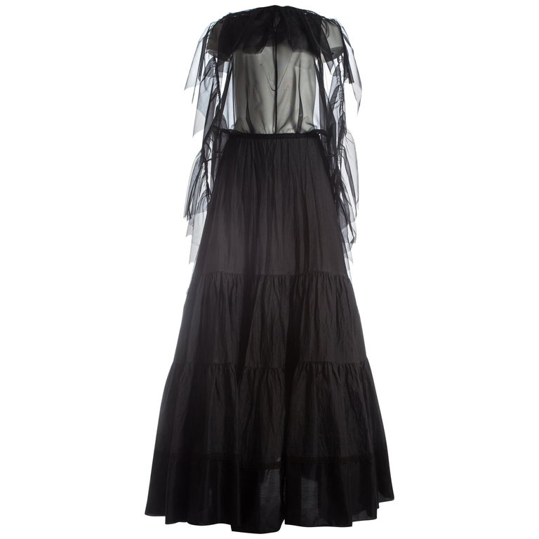 Margiela black maxi dress made from vintage petticoats, S / S 2003