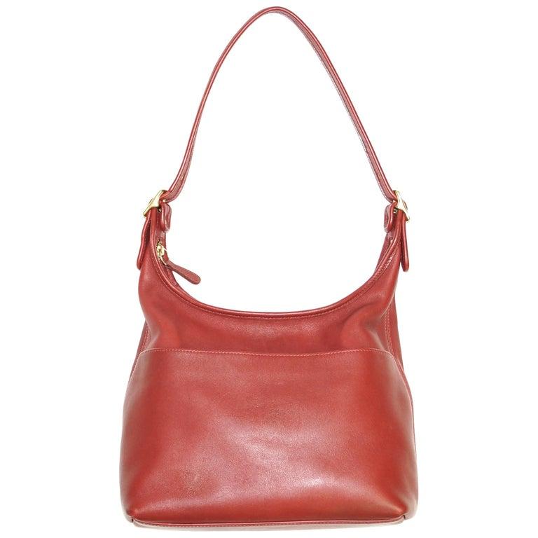 Bonnie Cashin Coach Tomato Red Shoulder Bag, 1970s  For Sale