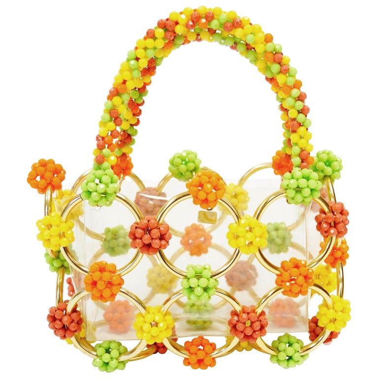 333b0211e7d7 Italian Beaded Handbag Made Exclusively for Bergdorf Goodman, 1960s For Sale