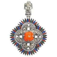Iconic 1970s VRBA Castlecliff Necklace Pendant