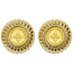 1980s Givenchy Medallion Earrings