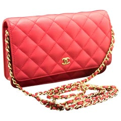 Chanel Caviar Wallet On Chain WOC Pink Crossbody Shoulder Bag