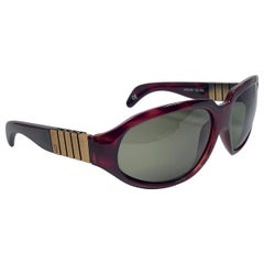 New Vintage Gianni Versace 530 Tortoise & Copper Sunglasses 1990's Made in Italy