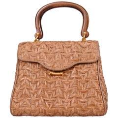 Dana Italian Woven Leather Day Bag
