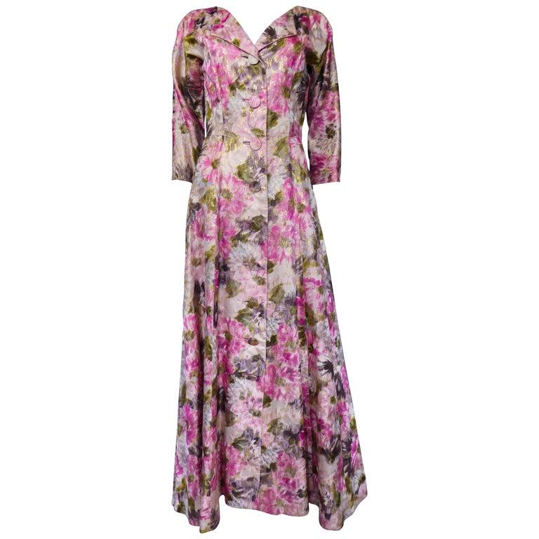 Elizabeth Arden Gold Evening Dress, Circa 1940 For Sale