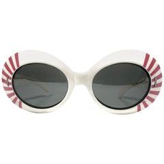 Suntimer Victory Rising Sun Skimo Style France Vintage Sunglasses, 1960