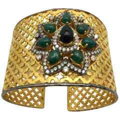Meghna Jewels Handcrafted Taj Mahal Lattice cuff