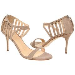 Giuseppe Zanotti Shoe Suede Camel Open Toe 39 / 9 New