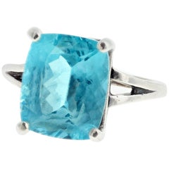 5.4 Carat Apatite Sterling Silver Ring