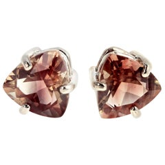 Crazy Colored Smoky Quartz Sterling Silver Stud Earrings