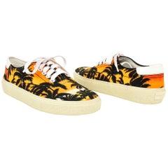 Saint Laurent Shoe Skate 20 Lace Up Sunset Palm Sneaker 39 / 9