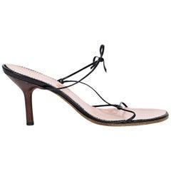 Black Gucci Strappy Leather Sandals