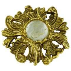 Christian Dior Boutique Vintage Baroque Brooch Prendant