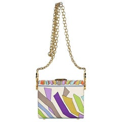 Emilio Pucci Multicolor Printed Small Box Bag