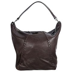 Brown Bottega Veneta Leather Shoulder Bag