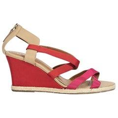 Mulitcolor Fendi Strappy Wedge Sandals