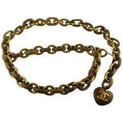 Chanel Vintage Wooden Heart Belt