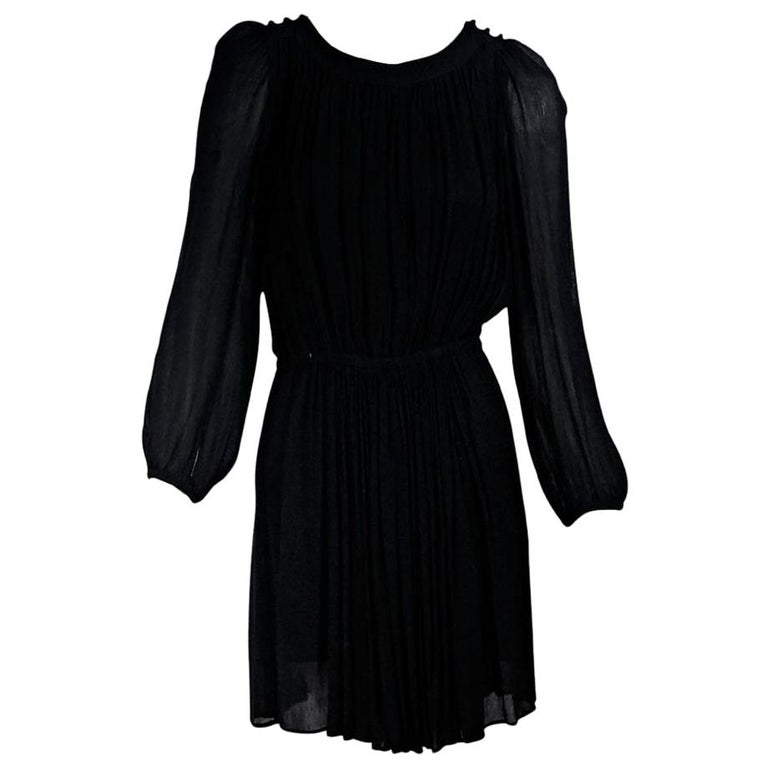 Black Isabel Marant Etoile Long-Sleeve Dress