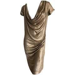 Vivienne Westwood  Anglomania Metallic Copper Draped Dress Size L