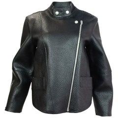 Alexander Wang Black Pebbled Leather Jacket Sz M NWT