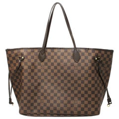 Authentic Louis Vuitton Neverfull GM Damier Ebene Tote Handbag