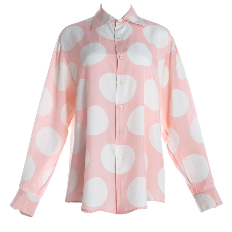 Vivienne Westwood unisex pink and white polkadot shirt, S/S 1985