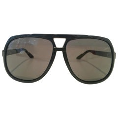 "21st Century 60'S Style Gucci Racing Strip ""G"" Logo Aviator Sunglasses"