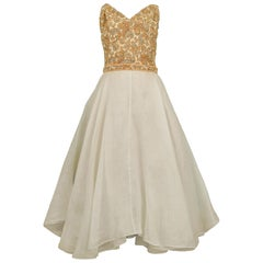 Vintage Galanos 1960s Beaded Cocktail Dress