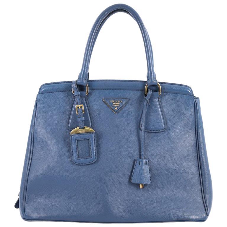 Prada Parabole Handbag Saffiano Leather Medium