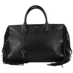 Saint Laurent Fringe Rive Gauche Cabas Leather Medium