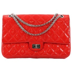 Chanel Reissue 2.55 Handbag Quilted Crinkled Patent 225
