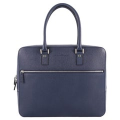 Salvatore Ferragamo Zip Around Briefcase Leather Medium
