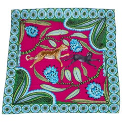 "Hermes The Savana Dance Cashmere 54"" Square Shawl Scarf"