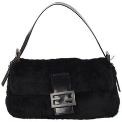 Fendi Black Fur Mamma Baguette