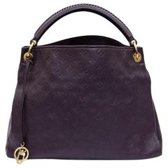 LOUIS VUITTON Artsy MM Bag in Grape Embossed Empreinte Monogram Leather