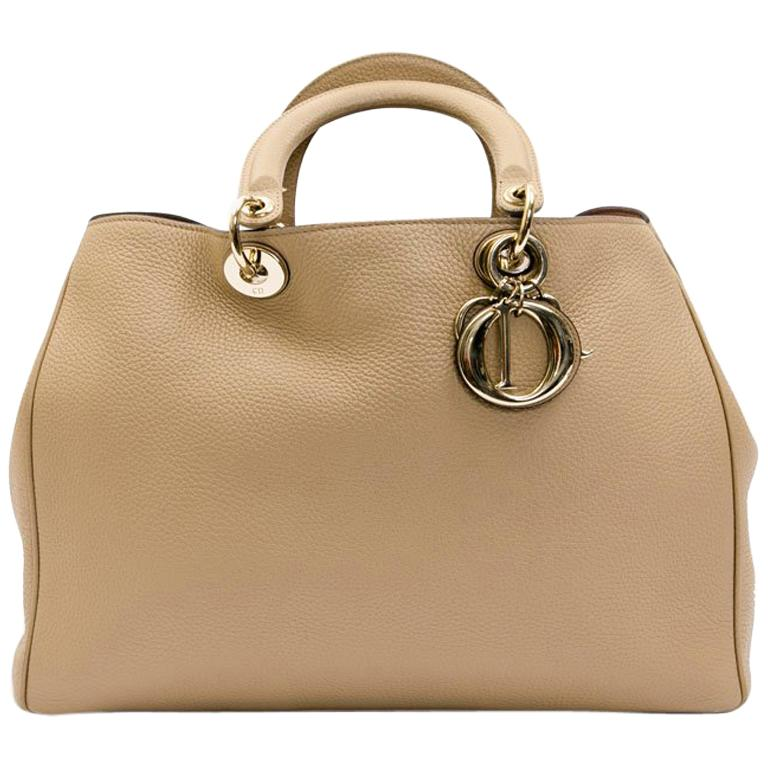 Dior Diorissimo Bag In Beige Taurillon Leather