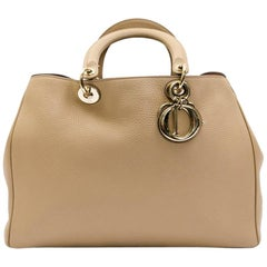 CHRISTIAN DIOR 'Diorissimo' Bag in Nude Beige Taurillon Leather