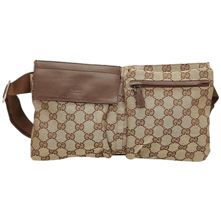 7adfa819c88ca2 Gucci Brown Guccissima Jacquard Belt Bag For Sale at 1stdibs
