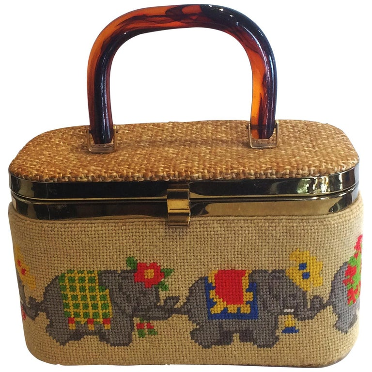 Mid Century Box Purse Hanbag by JR Florida featuring Elephants