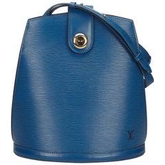 Louis Vuitton Blue Epi Cluny