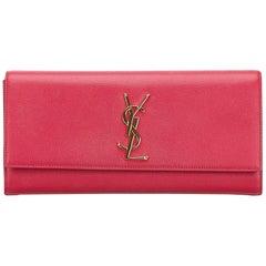 YSL Pink Monogram Kate Clutch Bag