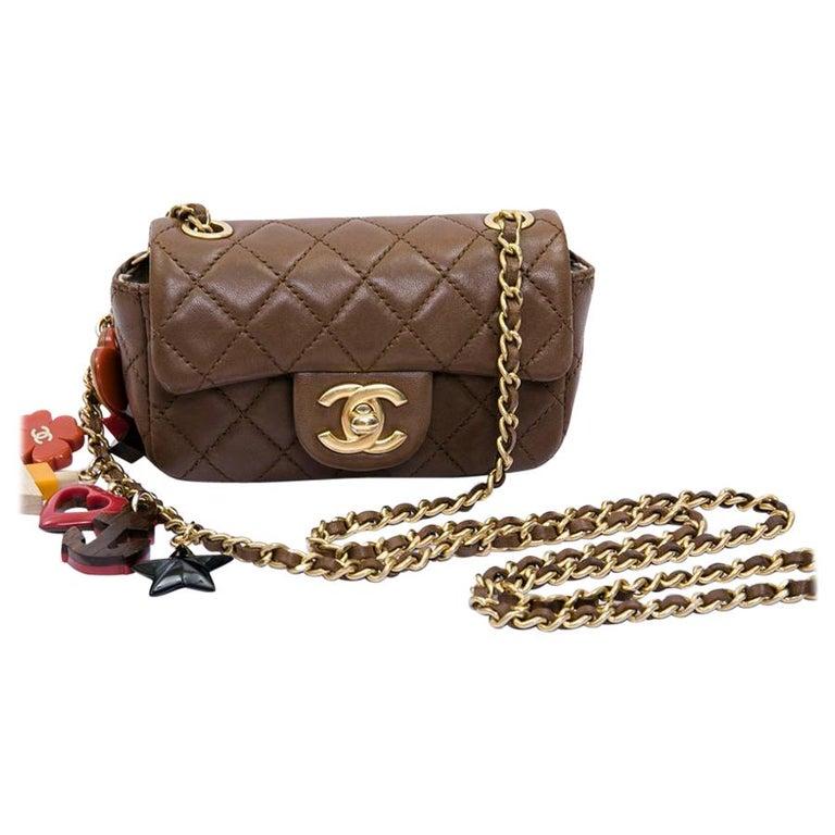 CHANEL Mini Bag in Light Brown Lamb Leather